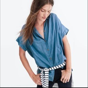 Madewell Chambray Central Shirt in Bright Indigo